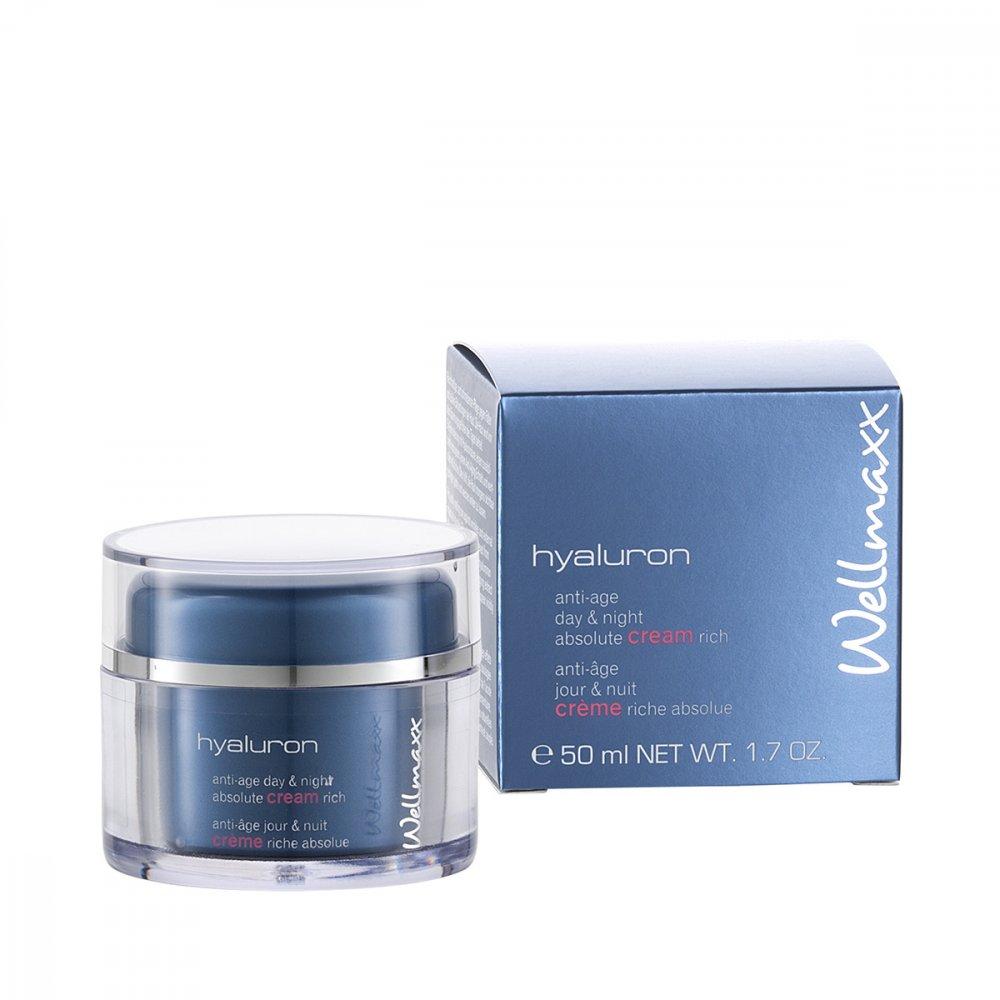 Wellmaxx hyaluron hydratačný krém absolute rich